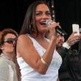 La jolie Maëva, ex-chroniqueuse du  Mag  sur NRJ12, en octobre 2015.