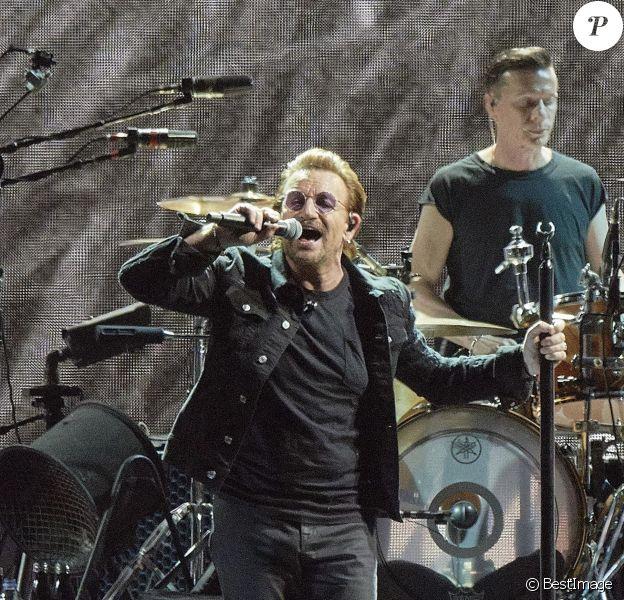 Bono - Le group U2 en concert lors du 'The Joshua Tree Tour 2017' au US Bank Stadium à Minneapolis dans l'État du Minnesota, le 9 septembre 2017