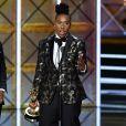 Aziz Ansari et Lena Waithe (Master of None) lors de la 69e cérémonie des Emmy Awards à Los Angeles, le 17 septembre 2017.