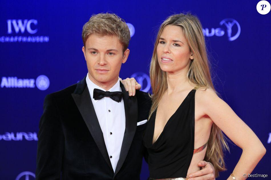 Nico Rosberg et sa femme Vivian Sibold - Soirée des Laureus World Sport Awards 2017 à Monaco le 14 février 2017.
