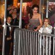 Knox Leon Jolie-Pitt et Vivienne Jolie-Pitt - Angelina Jolie a assisté avec ses enfants à la première de son film 'D'abord, ils ont tué mon père' à New York le 14 septembre 2017.