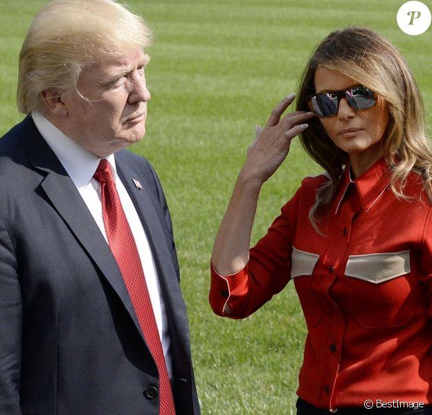 Donald Trump et sa femme Mélania Trump arrivent à la Maison Blanche, le 10 septembre 2017.