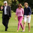 Donald J. Trump, Melania Trump, Barron Trump - La famille Trump quitte l'hélicoptère Marine One à leur arrivée à la Maison Blanche, Washington le 27 aout 2017.