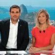 """Clémentine Sarlat et Matthieu Larlot, co-animateurs de """"Stade 2"""" tous les dimanche sur France 2."""