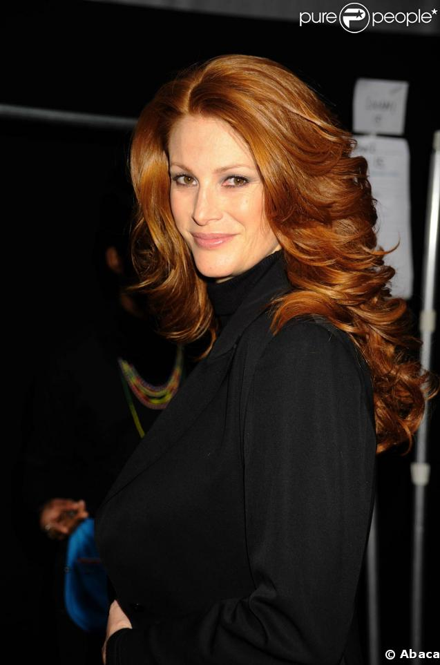 Angie Everhart à la Fashion Week, à New York ! 16/02/09