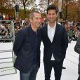 Guillaume Canet et Novak Djokovic au défilé de mode collection printemps-été 2018 Lacoste lors de la Fashion Week au jardin des Tuileries à Paris, France, le 27 septembre 2017. © CVS-Veeren/Bestimage