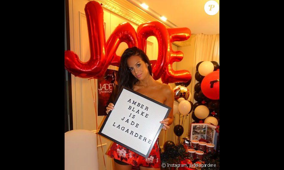 Jade Lagardère a fêté ses 27 ans, en famille. Instagram, septembre 2017