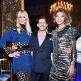 """Claudia Schiffer, Edgardo Osorio et Arizona Muse - Soirée de lancement de la collection """"Claudia Schiffer for AQUAZURRA"""" à Paris. Le 28 septembre 2017."""