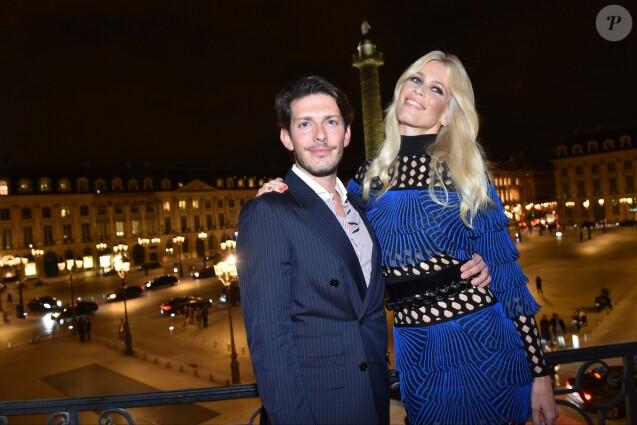 """Edgardo Osorio et Claudia Schiffer - Soirée de lancement de la collection """"Claudia Schiffer for AQUAZURRA"""" à Paris. Le 28 septembre 2017."""