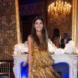 """Giovanna Battaglia - Soirée de lancement de la collection """"Claudia Schiffer for AQUAZURRA"""" à Paris. Le 28 septembre 2017."""