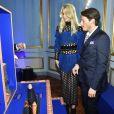 """Claudia Schiffer, Edgardo Osorio - Soirée de lancement de la collection """"Claudia Schiffer for AQUAZURRA"""" à Paris. Le 28 septembre 2017."""