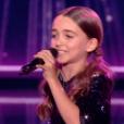 """Angelina lors de la finale de """"The Voice Kids 4"""" (TF1), samedi 30 septembre 2017."""