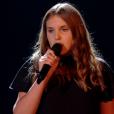 """Cassidy lors de la finale de """"The Voice Kids 4"""" (TF1), samedi 30 septembre 2017."""