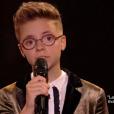 """Amandine lors de la finale de """"The Voice Kids 4"""" (TF1), samedi 30 septembre 2017."""