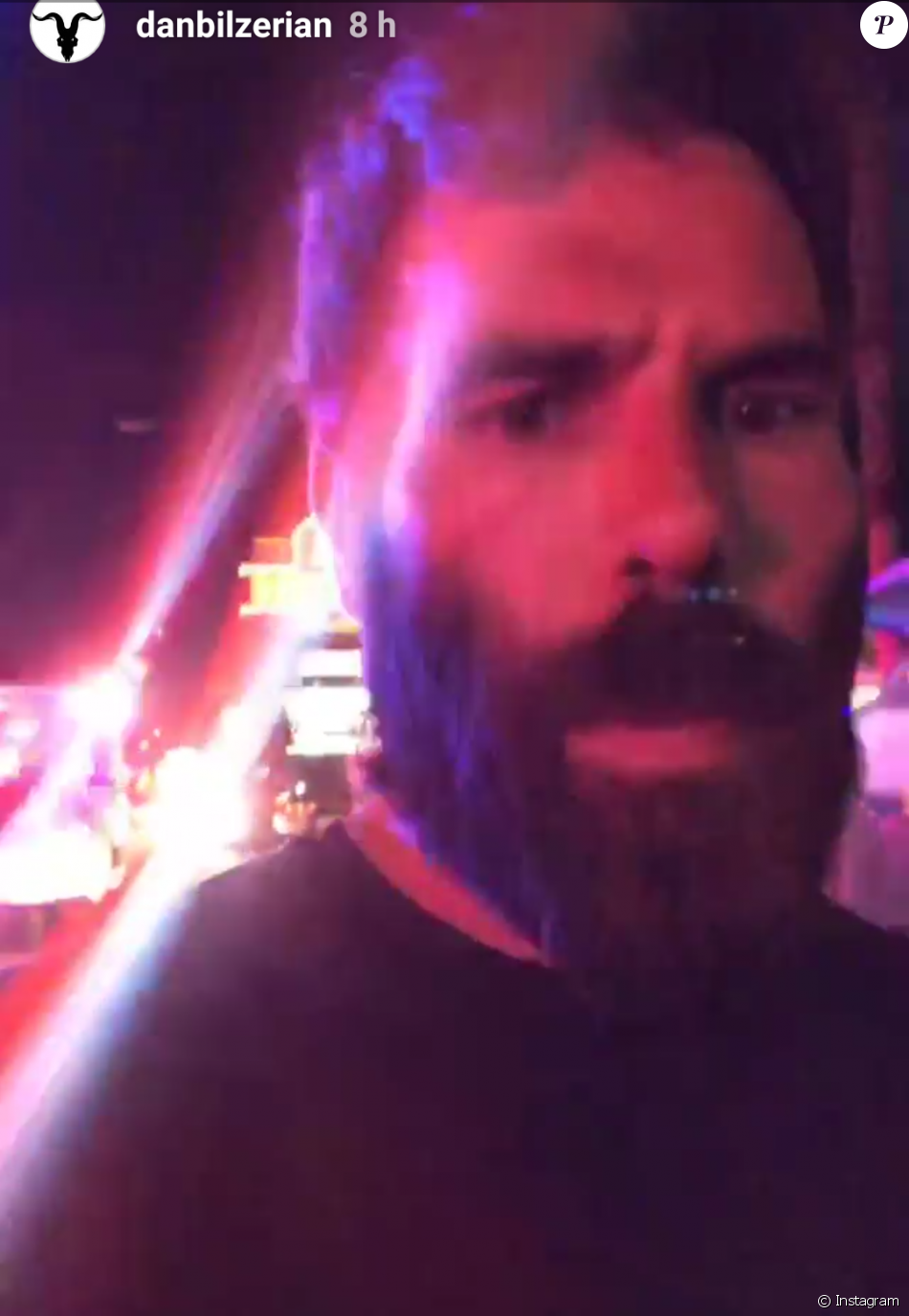 Dan Bilzerian s'est filmé en story Instagram alors qu'il fuyait les lieux du massacre perpétré le 1er octobre 2017 à Las Vegas pendant le concert de Jason Aldean.