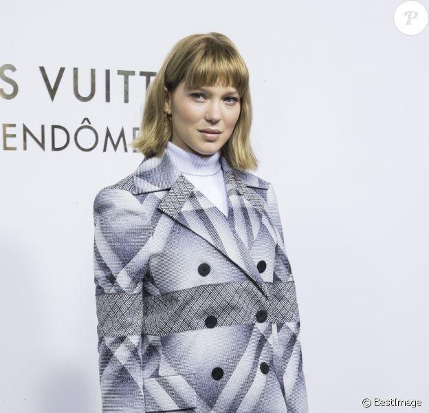 Léa Seydoux - Soirée d'inauguration de la Maison Louis Vuitton Vendôme. Paris, le 2 octobre 2017. © Olivier Borde/Bestimage