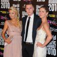 Paris Hilton, Barron Hilton et Nicky Hilton au photocall des World Music Awards le 18 mai 2010 à Monaco.