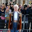 Michelle Williams - Défilé Louis Vuitton, collection printemps-été 2018 à la Pyramide du Louvre. Paris, le 3 octobre 2017. © CVS / Veeren / Bestimage