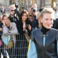 Cate Blanchett - Défilé Louis Vuitton, collection printemps-été 2018 à la Pyramide du Louvre. Paris, le 3 octobre 2017. © CVS / Veeren / Bestimage