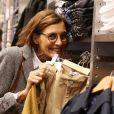 Exclusif - Inès de la Fressange lors de la soirée de lancement de la collection Automne-Hiver 2017 UNIQLO U à la boutique Uniqlo à Paris, le 4 octobre 2017. © Denis Guignebourg/Bestimage