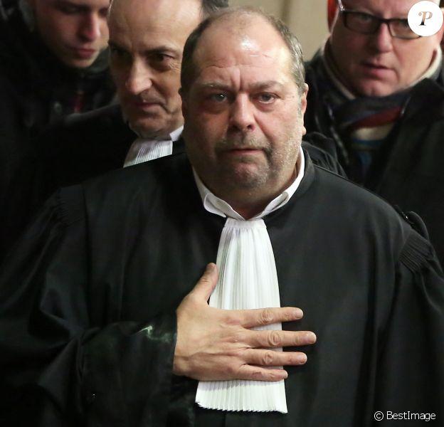 """Maître Eric Dupond-Moretti, avocat de David Roquet, ex-directeur d'une filiale du groupe Eiffage lors de l'ouverture du procès de proxénétisme aggravé dit de """"l'affaire du Carlton"""" au tribunal correctionnel de Lille, le 2 février 2015."""
