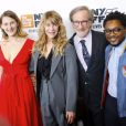 "Destry Allyn Spielberg, Kate Capshaw, Steven Spielberg et Theo Spielberg - Avant-première du film ""Speilberg"" de Susan Lacy lors du New York Film Festival le 5 octobre 2017."