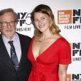 """Steven Speilberget sa fille Destry Allyn - Avant-première du film """"Speilberg"""" de Susan Lacy lors du New York Film Festival le 5 octobre 2017."""