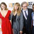 """Destry Allyn, Kate Capshaw, Steven Spielberg et Theo Spielberg - Avant-première du film """"Speilberg"""" de Susan Lacy lors du New York Film Festival le 5 octobre 2017."""