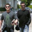 George Michael et Kenny Goss à Beverly Hills, le 21 mai 2004.