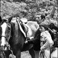 Jean Rochefort et sa femme Alexandra Moscwa en 1977