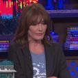 """Carla Bruni et Yolanda Hadid invitées de """"Watch What Happens Live!"""" présenté par Andy Cohen sur la chaîne Braco, le 10 octobre 2017."""