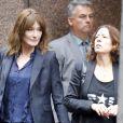 Exclusif - Nicolas Sarkozy et sa femme Carla Bruni Sarkozy à New York le 9 octobre 2017. L'ancien président est allé à une réunion au News Corp Building alors que Carla est allée à la station de radio Billboard et chez Universal Music sur Broadway.