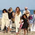 Mel B, son nouveau compagnon Gary Madatyan, Heidi Klum et ses filles Helen et Lou à Malibu, le 1er octobre 2017.