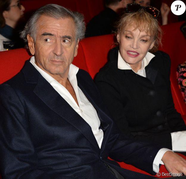 """Arielle Dombasle et son mari Bernard-Henri Lévy (BHL) - Avant première du film """"Monsieur & Madame Adelman"""" cinéma MK2 Bibliothèque à Paris, le 27 février 2017. © Veeren/Bestimage"""
