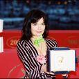 """Björk, primée à Cannes pour """"Dancer in the Dark"""", en mai 2000."""