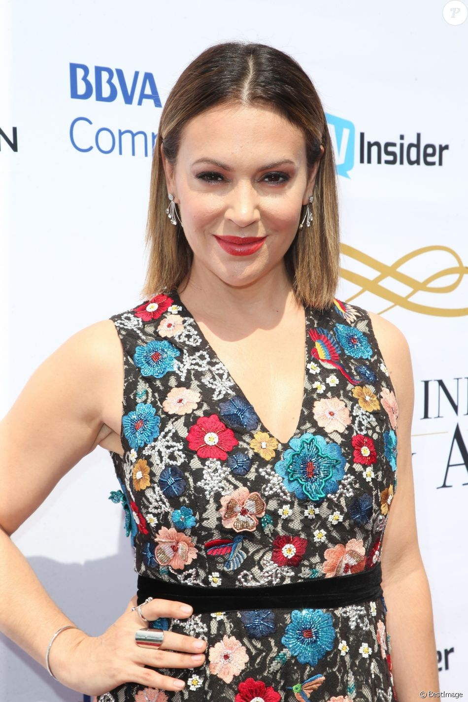 Alyssa Milano à la soirée caritative Television Industry Advocacy Awards à Hollywood, le 16 septembre 2017