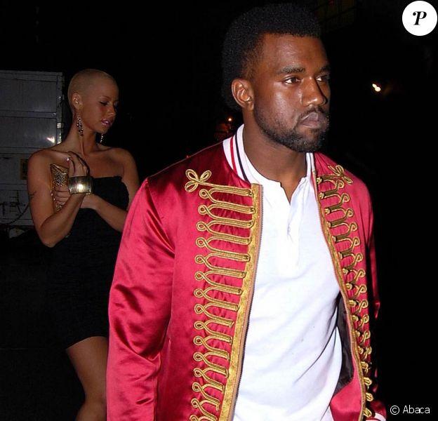 Kanye West et sa nouvelle petite amie Amber Rose à la Belvedere Party, à Los Angeles