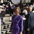 La reine Sofia d'espagne arrive à Oviedo le 20 octobre 2017.