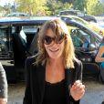 """Carla Bruni et Nicolas Sarkozy arrivent à leur hôtel à Athènes, Grèce le 22 octobre 2017. Carla Bruni sera en concert les 23 et 24 octobre 2017 au théâtre Pallas dans le cadre de sa tournée """"French Touch""""."""