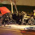 Paul Walker, 40 ans, victime d'un crash à bord d'une Carrera GT à Santa Clarita, près de Los Angeles, le 30 novembre 2013.
