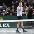"""Jack Sock - People a la demi-finale entre J. Sock et J. Benneteau - Tournoi de tennis """"Rolex Paris Masters 2017"""" - paris le 4 novembre 2017 © Veeren - Perusseau / Bestimage"""