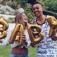 Carol Cabrino et Marquinhos officialisent l'arrivée de leur premier enfant sur Instagram le 10 mai 2017.