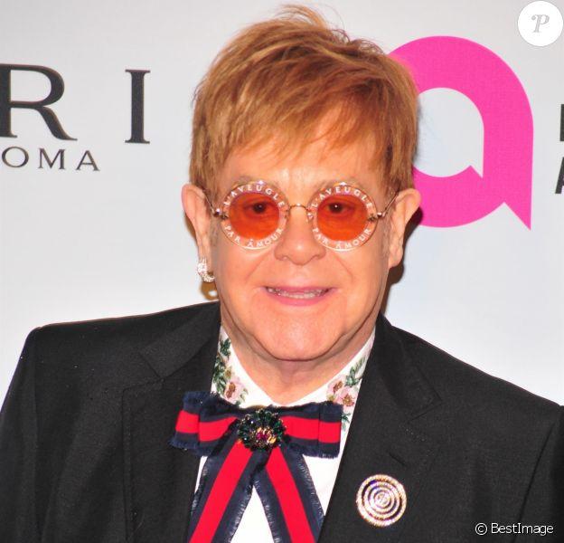 Elton John à la soirée caritative annuelle de la Elton John AIDS Foundation en la Cathédrale Saint-Jean le Théologien à New York, le 7 novembre 2017.