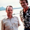 """Archive du 15 juin 1980 - John Hillerman (Higgins de la série Magnum) et Tom Selleck/Magnum"""