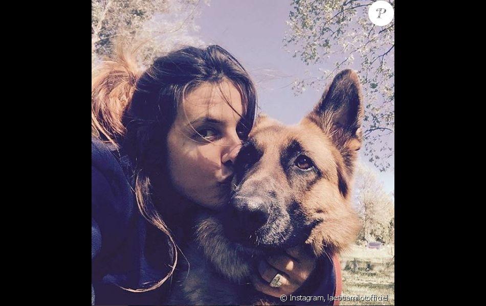 Laëtitia Milot et sa chienne Jaï, Instagram, 2017