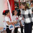 La reine Letizia d'Espagne en visite au siège de la Croix-Rouge mexicaine à Mexico, le 13 novembre 2017. © Jack Abuin/Zuma Press/Bestimage