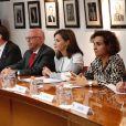 La reine Letizia d'Espagne lors d'une réunion au siège de la Croix-Rouge mexicaine à Mexico, le 13 novembre 2017. © Jack Abuin/Zuma Press/Bestimage