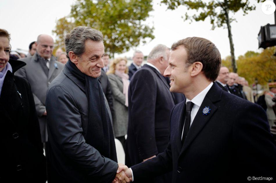 Nicolas Sarkozy Et Emmanuel Macron President De La Republique