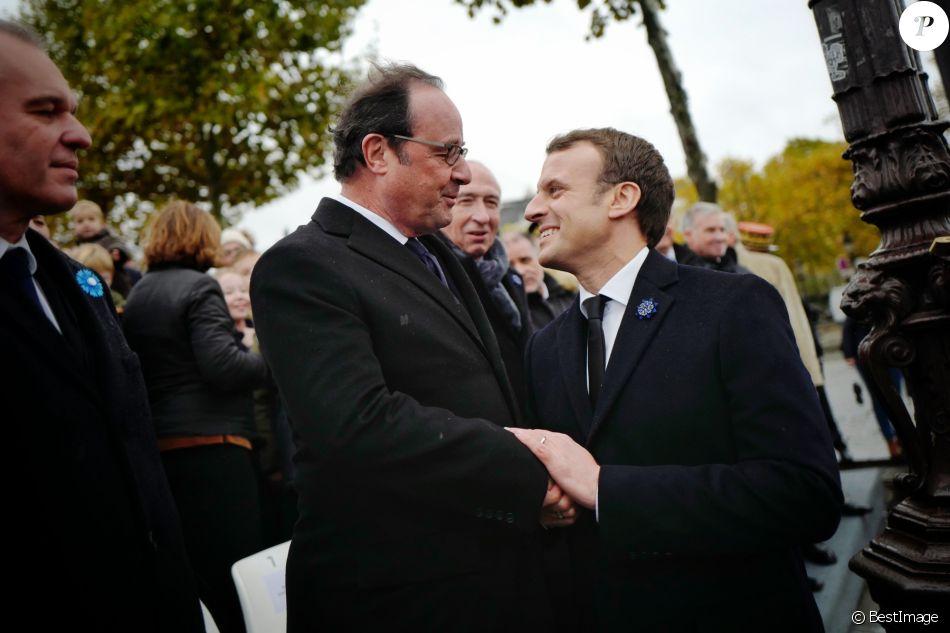 Francois Hollande Et Emmanuel Macron President De La Republique