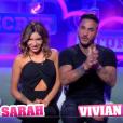 """Sarah Lopez et Vivian lors de la quotidienne de """"Secret Story 11"""" (NT1), vendredi 17 novembre 2017."""